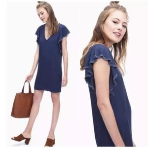 Splendid Chambray Ruffle Dress - size large